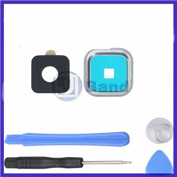 Rear Camera Glass Lens With Holder Replacemnt Parts + Installation Kits For Samsung Galaxy S5 i9600 G900