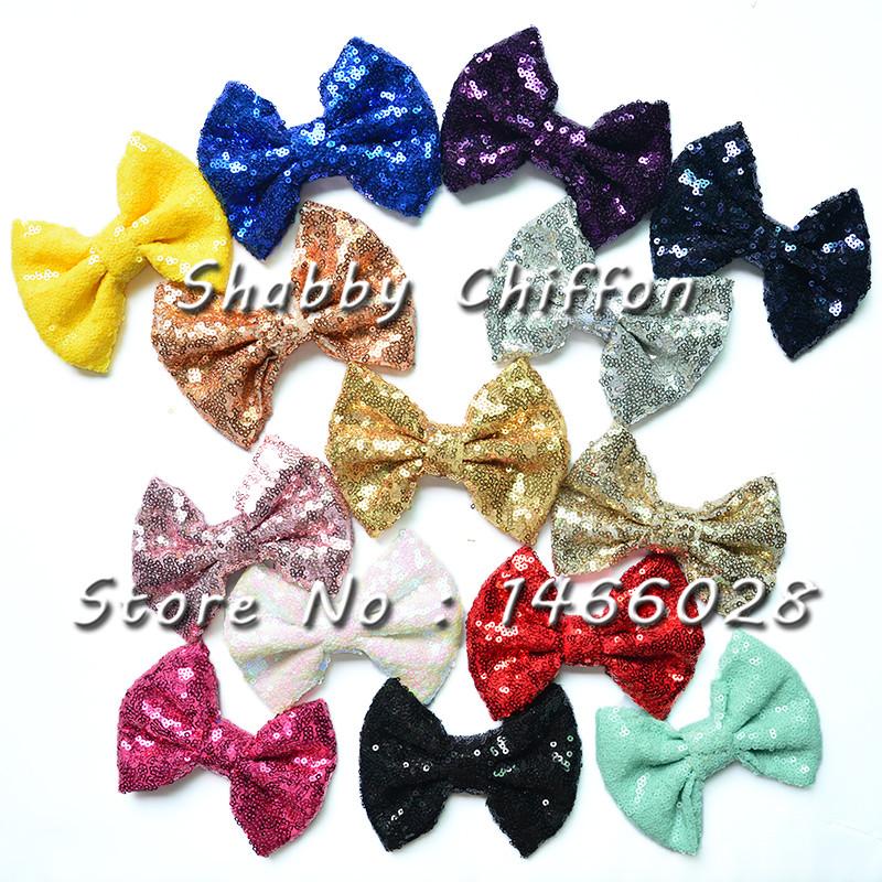 10 pcs/lot , 12 Baby Sequin headband Messy Bow Head wrap,Big Bow Baby headbands(China (Mainland))