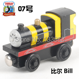 Bill, Thomas & his friends trains toy, wooden thomas train with magnet, toys for kids, children toys, free shipping(China (Mainland))
