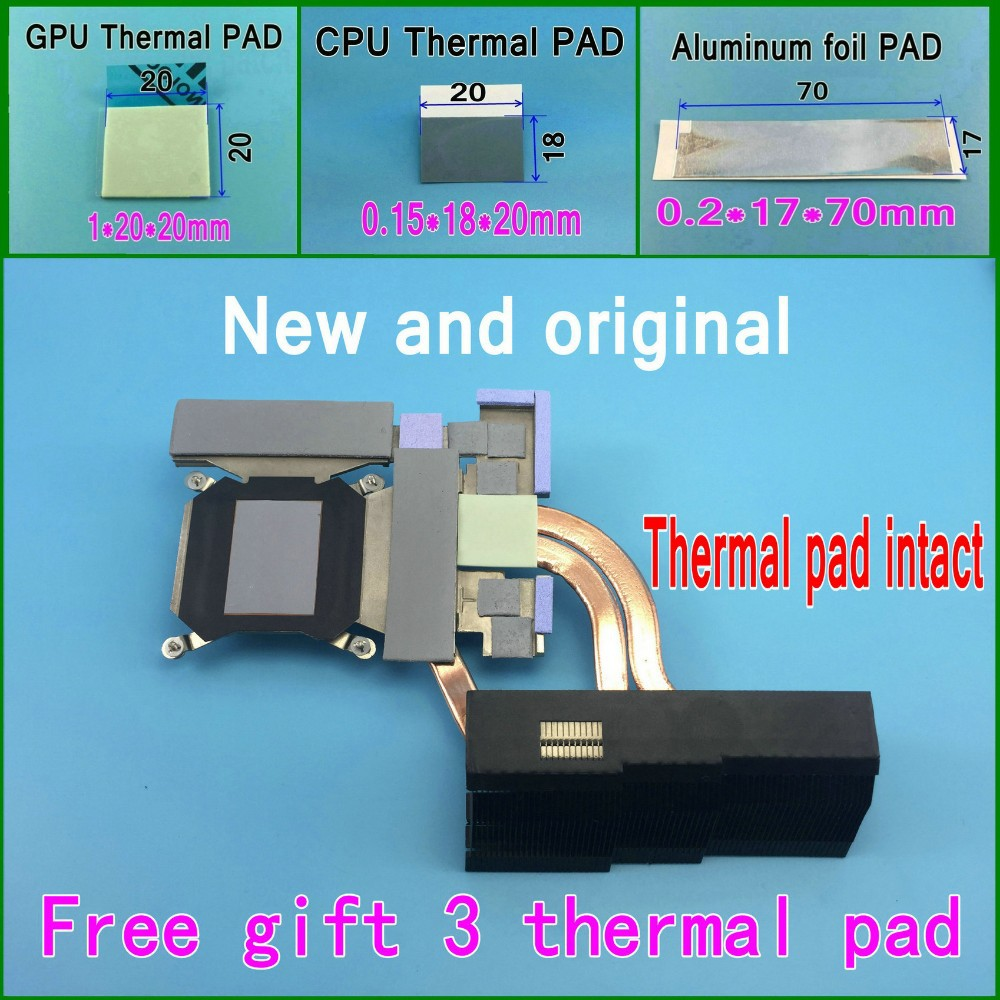 Gift 3 Thermal pads New CN-0H5DNV H5DNV AT0FM00C0F0 Cooling Heatsink For DELL ALIENWARE 18 M18X Cooler Thermal module GPU Card<br><br>Aliexpress