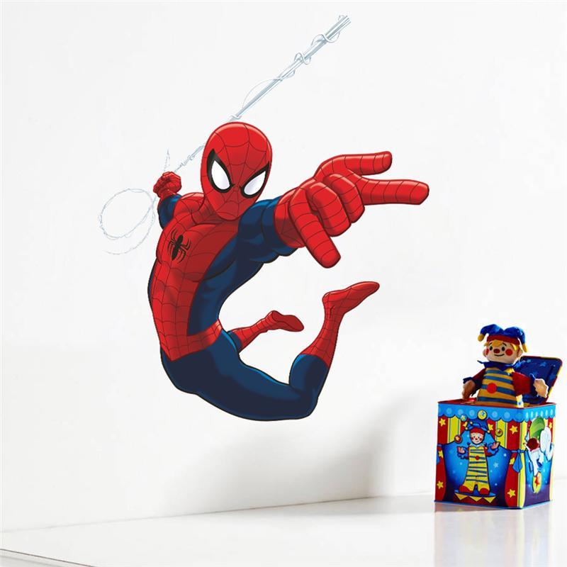 Spiderman super heros wall stickers kids room decor - Poster mural spiderman ...