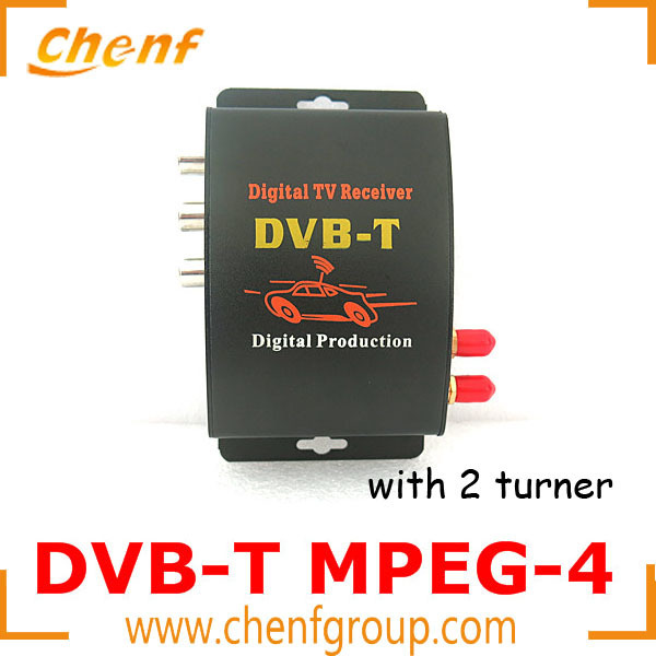 (One Piece Sale) DVB-T MPEG-4 TV MPEG-4 Mobile Digital Car TV Receiver Turner Box with 2 antennas PAL/NTSC Tuner M-629S(China (Mainland))