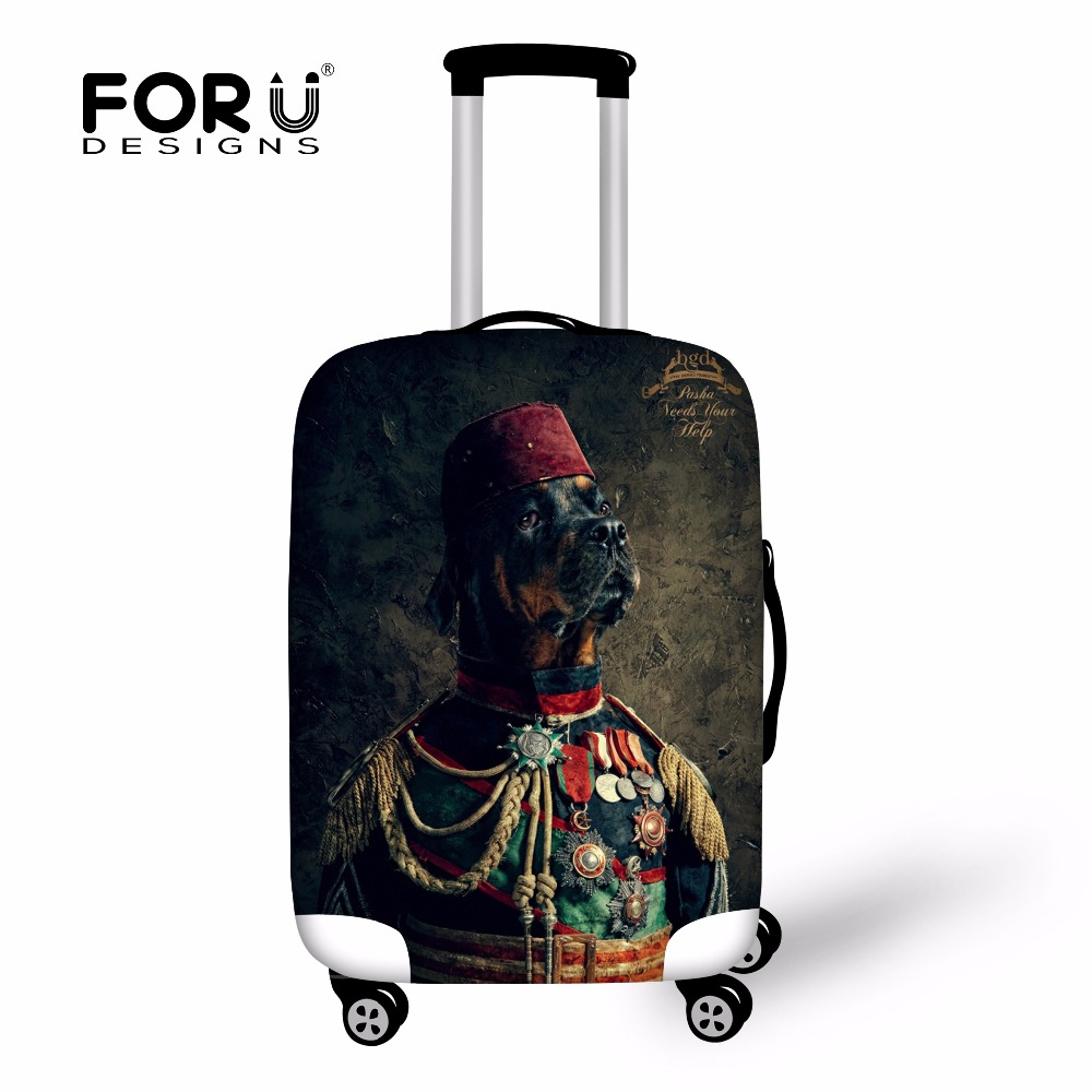 Novel Travel Luggage Cover Protector 18-30 inch Case 3D Animal Dog Design Suitcase Cover Elastic Waterproof Luggage Accessories(China (Mainland))