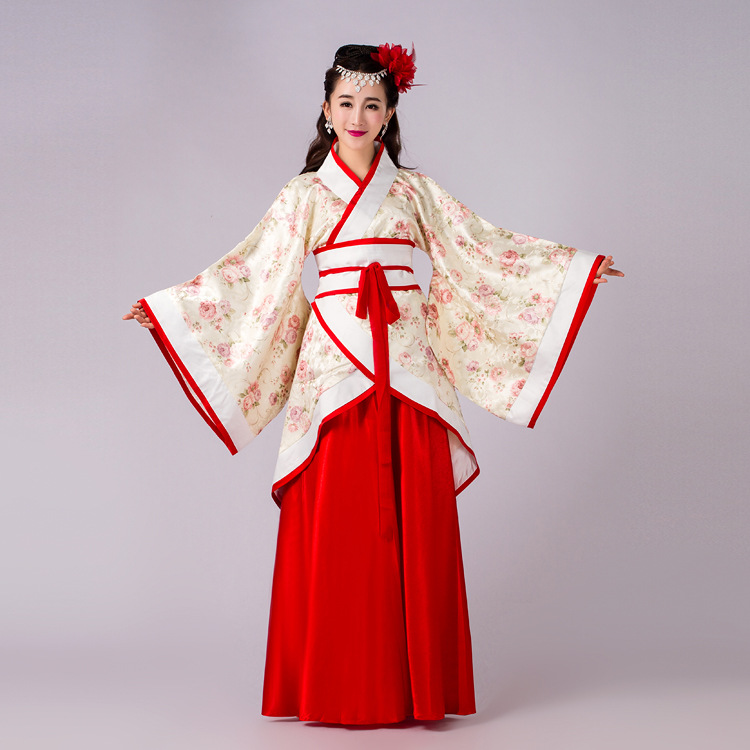 Chinese ancient Han Dynasty Tradition Vintage 2pcs suit Hanfu Costume Dance Wear Cosplay women clothing princess fancy dress(China (Mainland))