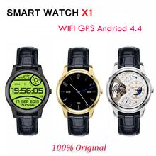 Android4.4 3 г смарт часы X1 MTK6572 1.3 » IPS 512 МБ + 4 ГБ GPS AGPS 1.2 г двухъядерный smartwatch поддержка wi-fi громкой силы тяжести