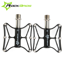 "Buy ROCKBROS Bike MTB Magnesium Pedals Platform CNC Steel Axle 9/16"" Cycling Bike Foot pedals 4 colors,2 Models for $22.39 in AliExpress store"
