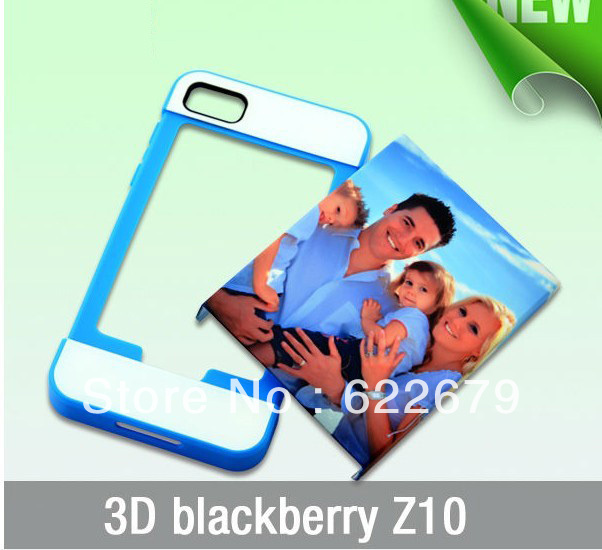 3D sublimation DIY sublimation Blanks 3D case + Silicone case with card slot for Blackberry Z10, 100pcs(China (Mainland))