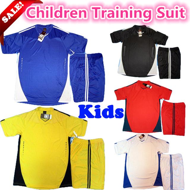 New!high quality brand children soccer jersey children football training suit kit student fashion football shirt Kids tracksuits(China (Mainland))