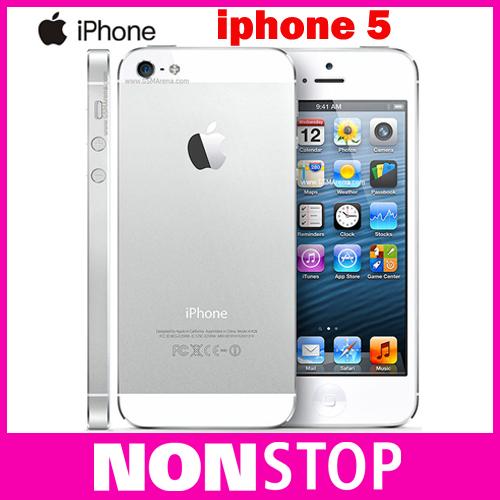 "Original Unlcoked Apple Iphone 5 8MP Camera 1GB RAM 16/32/64GB ROM 4.0"" Dual core 3G/4G Mobile Phone(China (Mainland))"