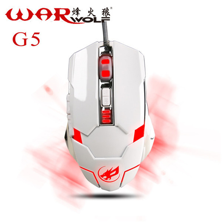 Optical Wired gaming mouse gamers 6D USB LED Lights Ergonomic design mause for laptop PC Desktop mouse sem fio Warwolf G5 bloody(China (Mainland))