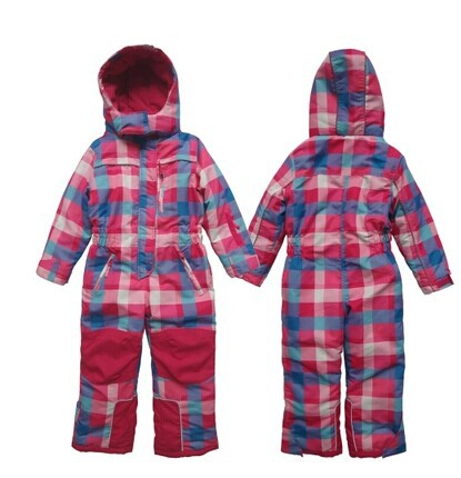 2014 new Russia winter Topolino baby plaid cotton-padded romper kids children windproof & waterproof one-piece overalls - My princess store