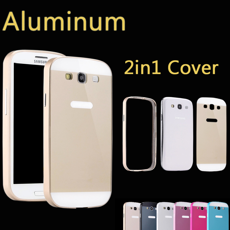 Ultrathin Aviation No Screws 0.86mm Frame Cover Ultra Thin Metal Luxury Aluminum Bumper Case For Samsung Galaxy S3 i9300(China (Mainland))