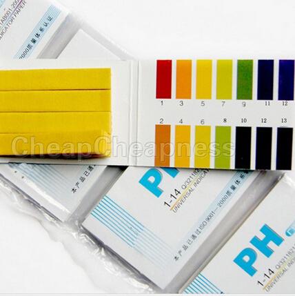 80 Strips PH Paper Analyzers Full Range 1-14 PH Universal Test Paper Strips(China (Mainland))