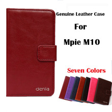 Mpie M10 Case,High Quality Genuine Flip Leather Phone Case Cover For Mpie M10 Real Leather Skin Case 7 Colors.