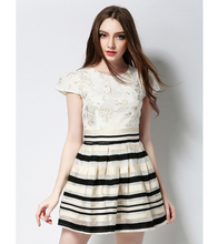 Sweet And Elegant New Spring And Summer Dress 2016 Fashion Girl Spring Office Dress Style Girls Dress Ukraine Girl Dress