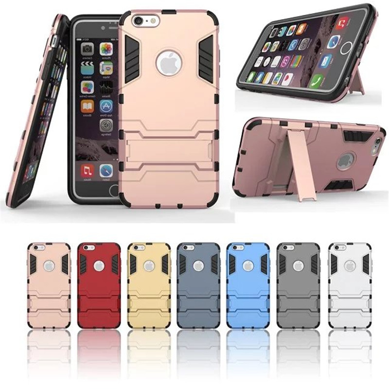 For 6s plus Case Hybrid Kickstand 2 in1 combo Bracket Stand Case + Heavy Duty Armor Phone Back case For Apple iPhone 6s plus(China (Mainland))