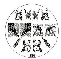 2015 new A Series A54 Nail Art Polish DIY Stamping Plates Image Templates Nail Stamp Stencil Manicure Care Beauty Designs Tools