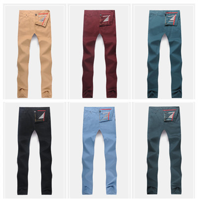 Brand Pants 2015 New Cotton Men Casual Cargo Pants Slim Fit Long Straight Trousers 9 Colors Big Size 28-38(China (Mainland))