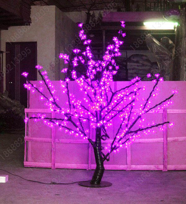 artificial led christmas trees Led lighting cherry tree with purple light 1.2meter 480 lights,decoration(China (Mainland))