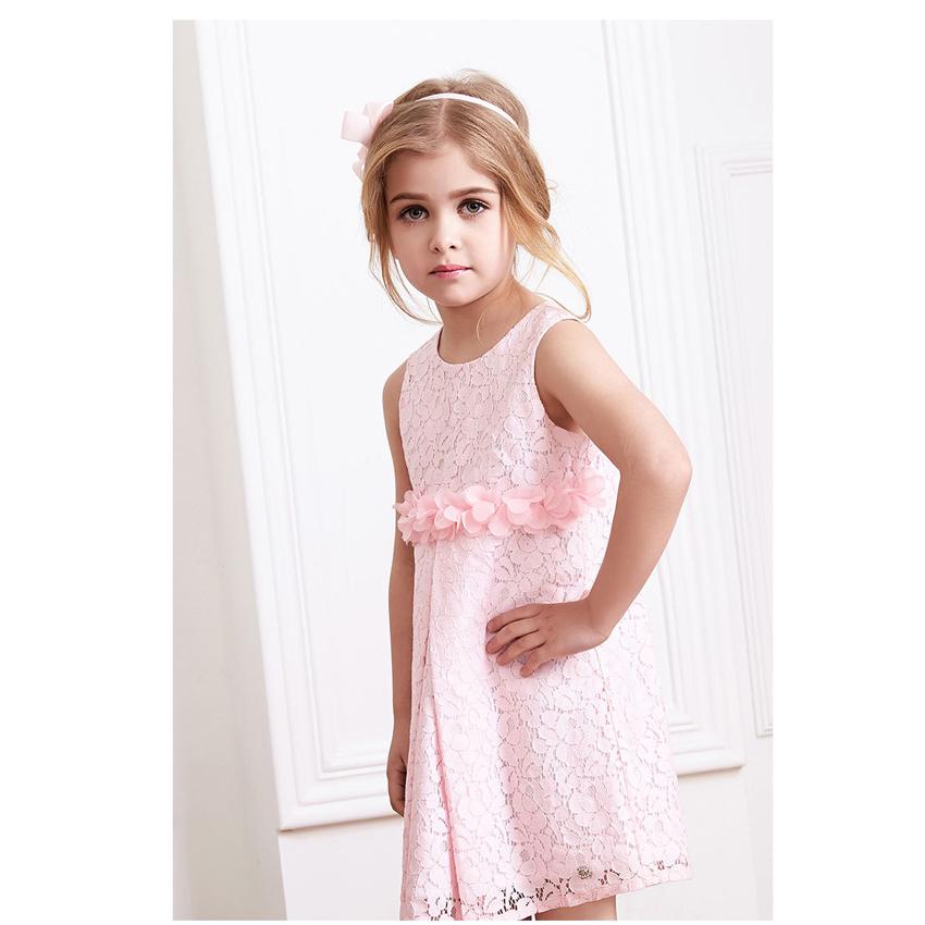 Girls' Pink Rose Petal Hem Dress Girls Floral Clothes 2 Different Colors Cute Kids Clothes Princess TuTu Dress(China (Mainland))