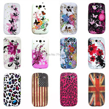 Eiffel Circle Butterfly Polka Dots Owl Flag TPU Silicon Phone Case for Samsung Galaxy S3 Neo i9301 & Galaxy S3 i9300 Back Cover(China (Mainland))