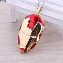 Hot New Iron Man Gold Mask The Avengers Game Cosplay Logo Mark Alloy Necklaces Japan Animation Small Pendant