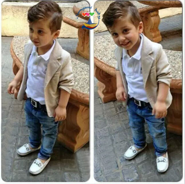 Здесь можно купить  NEW arrival 2015 fashion Gentleman boys sets white long sleeve t shirt & jeans & suit casual kids clothes boys clothing 3pcs set NEW arrival 2015 fashion Gentleman boys sets white long sleeve t shirt & jeans & suit casual kids clothes boys clothing 3pcs set Детские товары