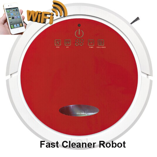 Smartphone WIFI App Smart Wet Robot Vacuum Cleaner QQ6 Wet and Dry Clean MOP Water Tank HEPA Filter,Ciff Sensor,Self Charge(China (Mainland))
