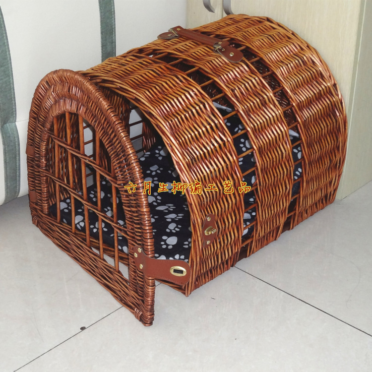 Products for Pets Dog House Pet Bed Kennel Home Cat Puppy NestDog House Bamboo Cage Bamboo Fabric Cool Kennel(China (Mainland))
