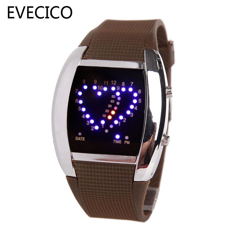 Evecico персонализированные сердце стол привело любителей стол spermatagonial часы электронные часы тенденция цифровой