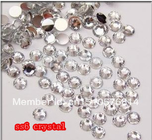 SS6 2.0mm Crystal Color 10000pcs/pack Flatback Acrylic Rhinestones Nail Art - Rhinestone houses store