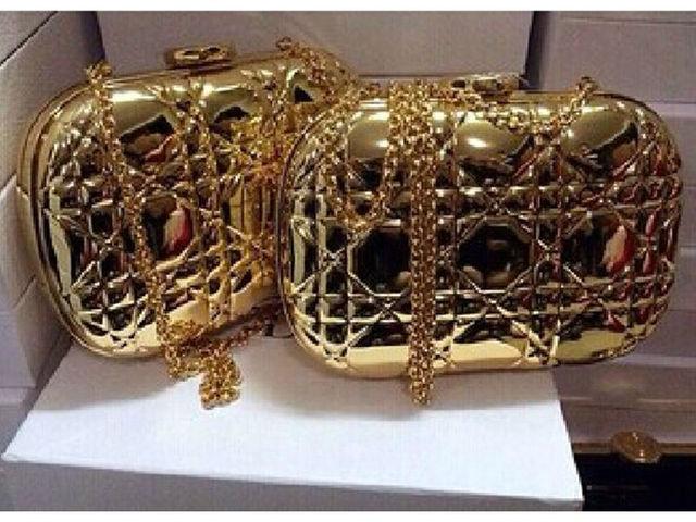 Элегантный позолоченные акрил вечерняя бренд D вогнутая мода духи пластиковые клатч плед сумочка пу кожаная подкладка - A004
