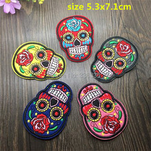 WL iron on mixed 10 pcs skeleton Embroidered patch sew on Motif Applique garment embroidery cartoon patch DIY accessory(China (Mainland))