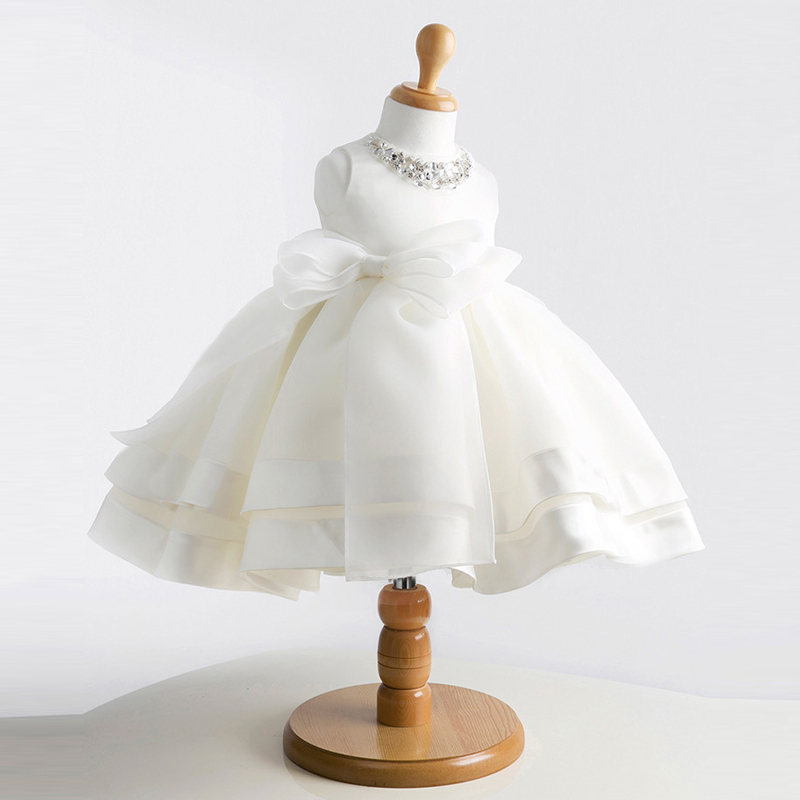 Top Quality New Girls Pageant Dresses For Baby Children Princess Flower girl Dresses Kids Formal Wedding Party Christening Gown(China (Mainland))