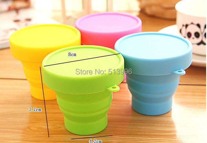 New 2015 Portable Silicone Retractable Folding Cup Telescopic Collapsible Outdoor Sports Camping travel mug(China (Mainland))