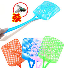 Fly Insect Pest Mosquito Swatter Plastic Handy Bug Killer Long Racket Handle Swat Wasp Home Protector(China (Mainland))