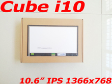 2016 Quality Original 10.6″ LCD Display for Cube i10 IPS Screen 1366×768 LCD Screen Panel Replacement