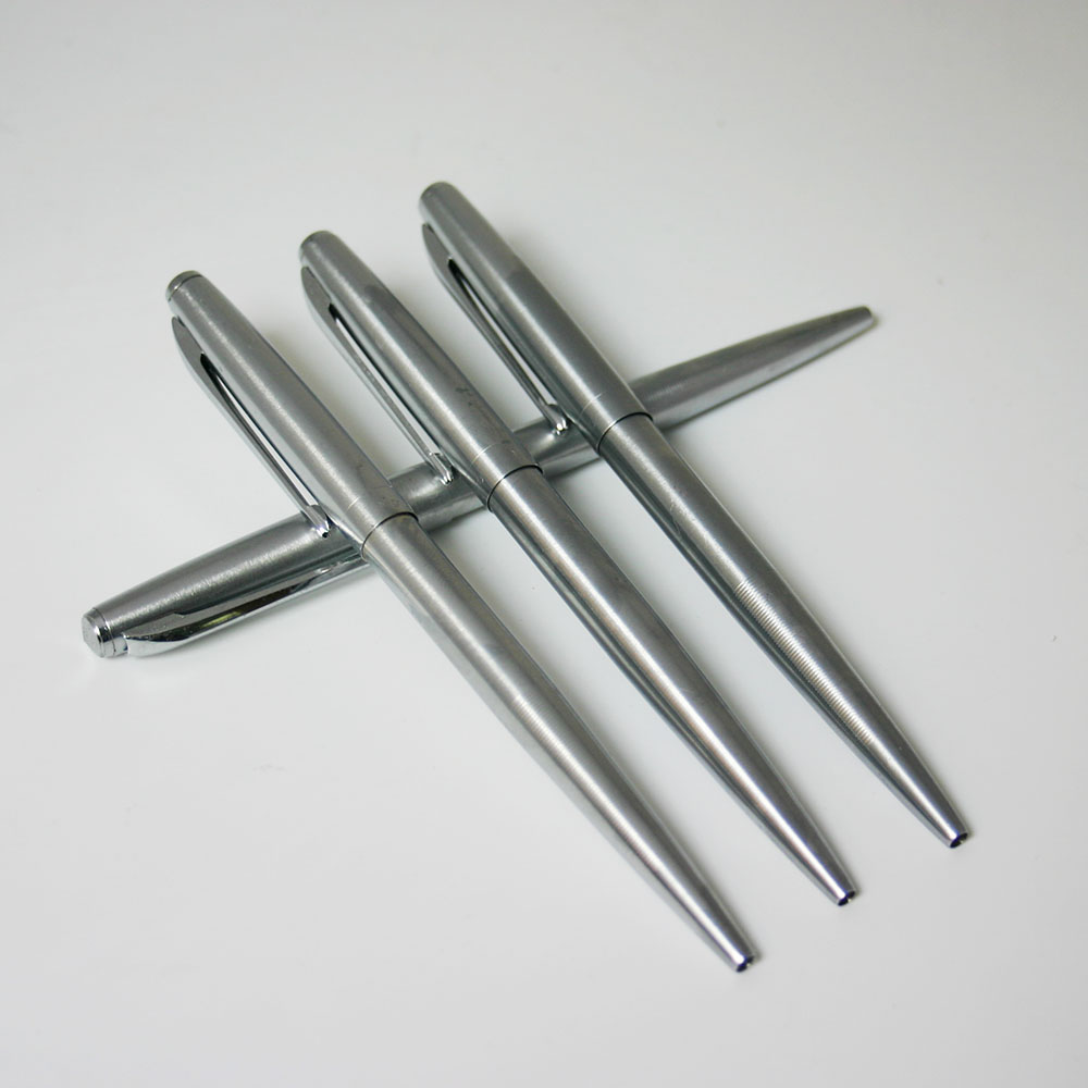 Гаджет  1pcs/lot Stainless steel metal pen metal ballpoint pen automatic ballpoint pen free shipping None Офисные и Школьные принадлежности