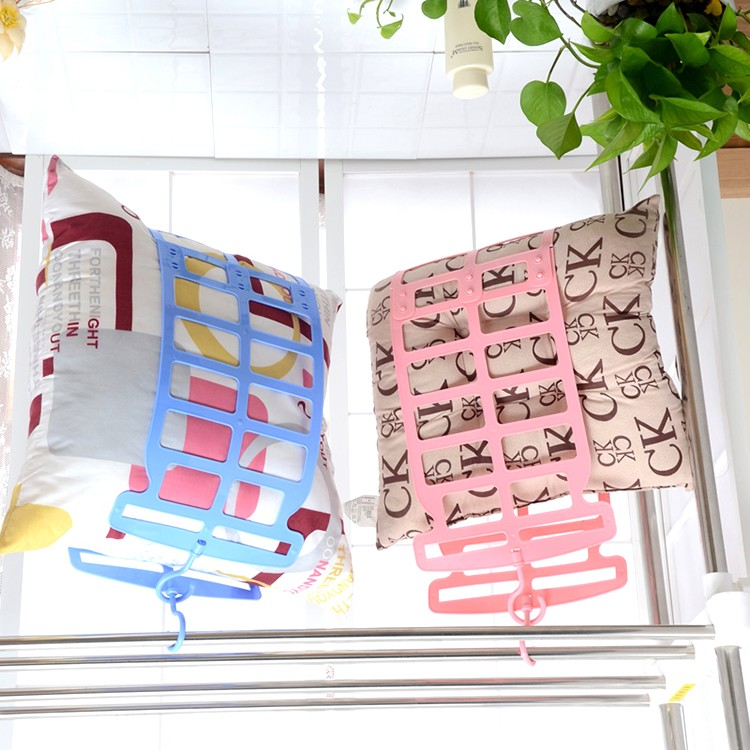 clothespins pillow rack clothes pegs fitted pillow clip balcony doll drying pillow rack thin velvet hangers suit hanger(China (Mainland))
