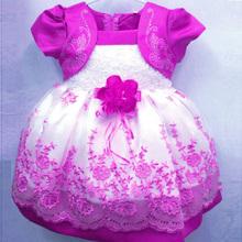 New Korean girls dress Flowral Lace dress Colors Princess dress(China (Mainland))
