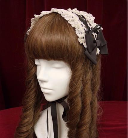 Hot Princess sweet headwear lolita Pure and fresh and anime joker bow hair with hair COS lace headdress(China (Mainland))