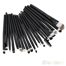 20 Pcs Pro Makeup Set Powder Foundation Eyeshadow Eyeliner Lip Cosmetic Brushes 8TRB