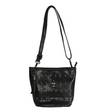 Skull Face Shoulder Bag PU Leather