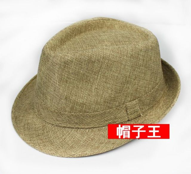Fashion male fedoras hat for man jazz hat summer hat sun-shading casual cap summer quinquagenarian cap