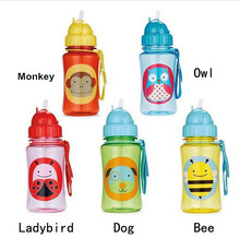 Water bottle for kids high quality tritan water bottle 100% BPA FREE cup with lids and straws  kids learn to drink cups bottle(China (Mainland))