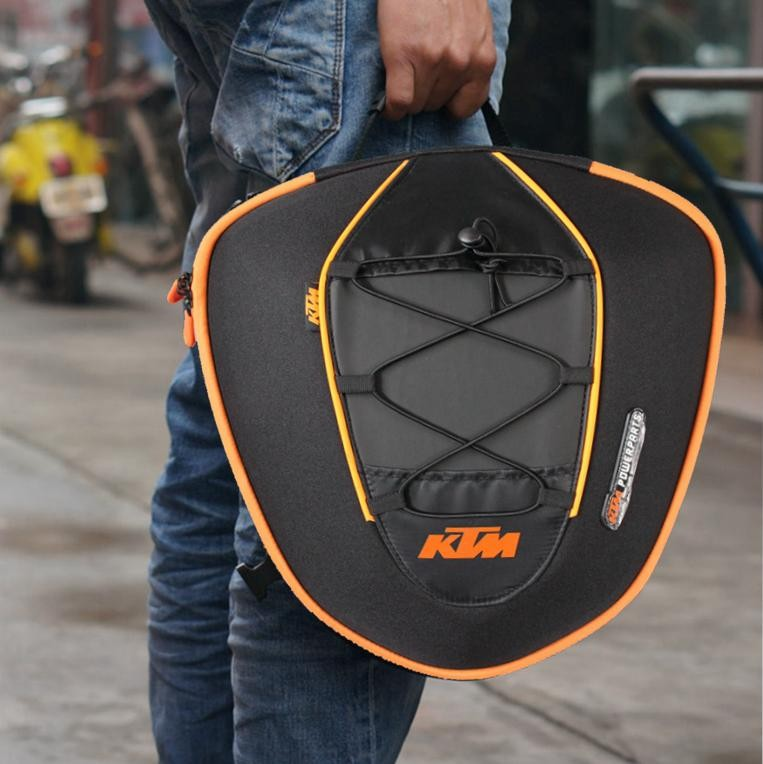 New Black KOMINE/KTM motorcycle Oil Fuel Tank Bag,motorcycle rear trunk bag ,Rear seat package, Racing Pack Free shipping(China (Mainland))