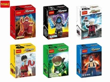 Decool 6Pcs Building Blocks Super Heroes MiniFigures DAREDEVIL ELECTRO FLASTIC MAN BANE Bricks Figures Compatible With