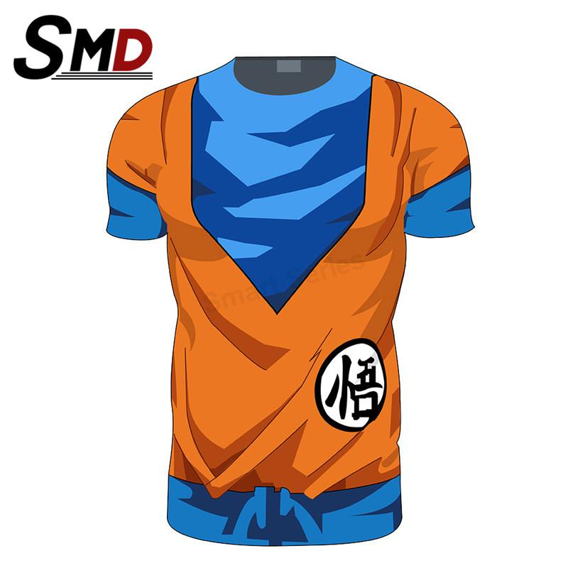 Anime Dragon Ball z Goku T Shirt Men/Women Super Saiyan Vegeta 3D Armour Costume Sport Fitness T-Shirt Bicycle Jersey Cosplay(China (Mainland))
