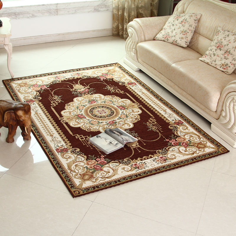 JiaBoLang Europe Classic Style Acrylic Thicken Soft Carpet Living Room Bedroom Antiskid Jacquard Carpets And Floor Mats 4 Colors(China (Mainland))