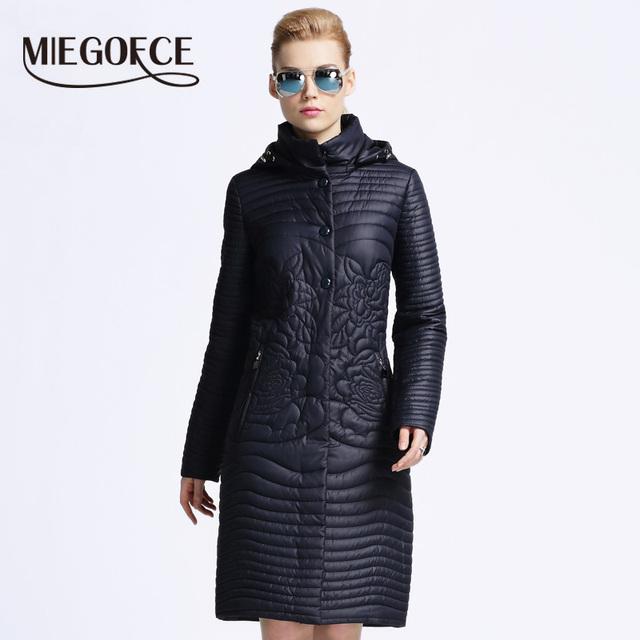 Miegofce 2016 новая весна теплый хлопок стеганый-тройку куртки стоят воротник хлопка-ватник женской одежды пальто куртка